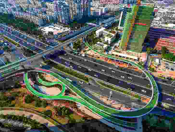 Xiamen Bicycle Skyway (Xiamen, China) by Dissing and Weitling.