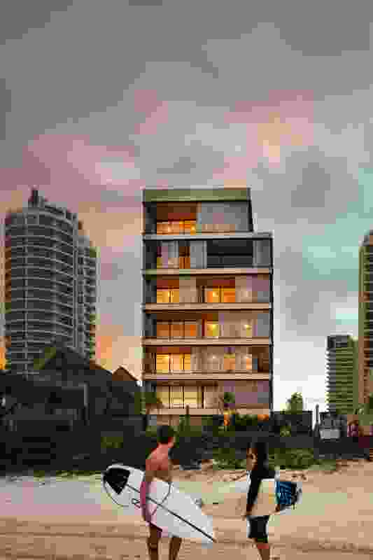 """Each residence occupies at least an entire floor of the apartment building and all have """"similarly spectacular views of sand and sea . """""""