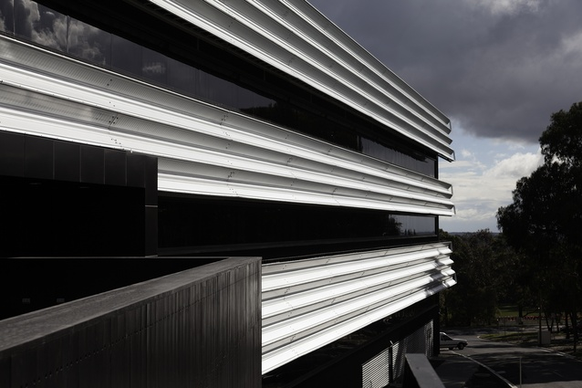 Horizontal banding on the exterior was inspired by Ballarat's history of mining and the stratified rock found in the region.