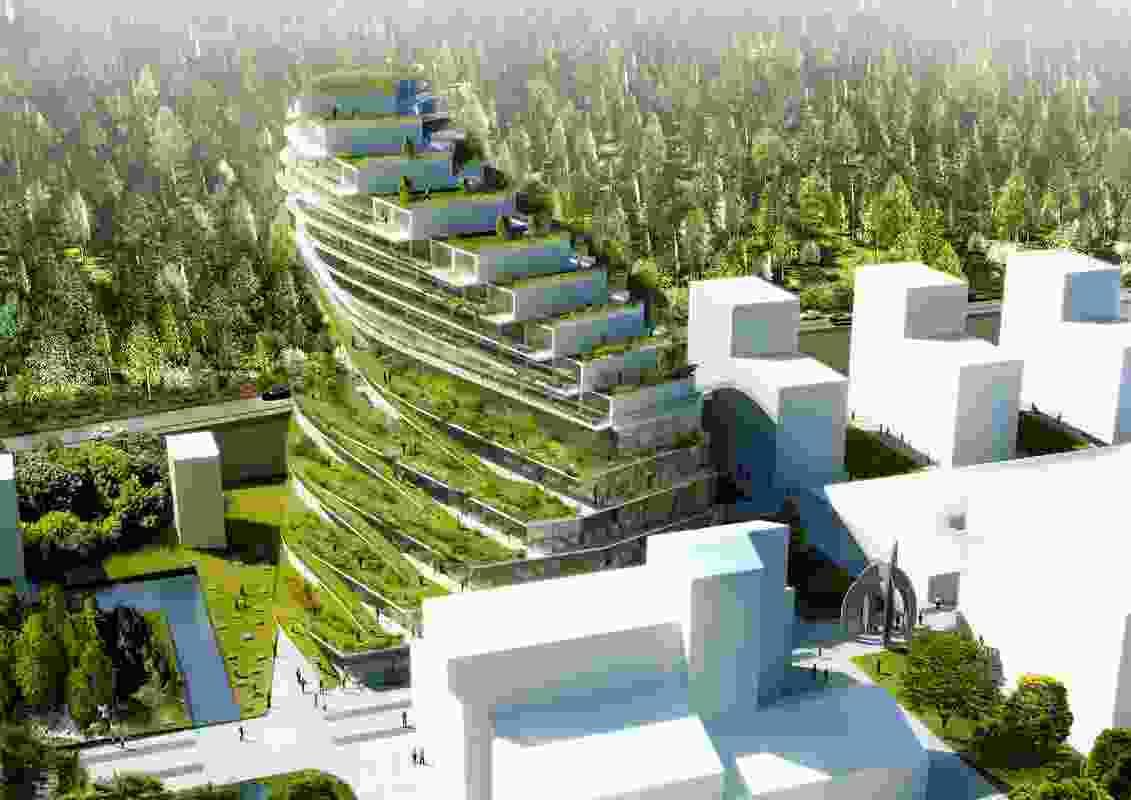 Green School in Stockholm by 3XN.