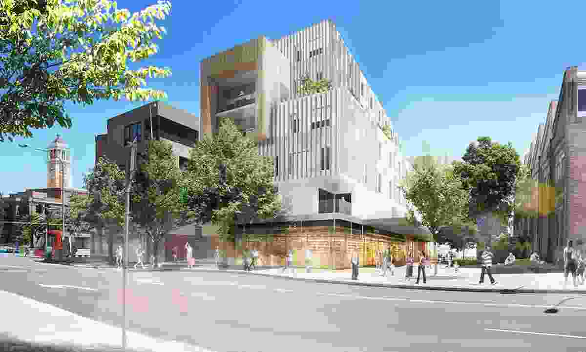 Proposed view at Merewether Street in the plan to revitalize Newcastle.