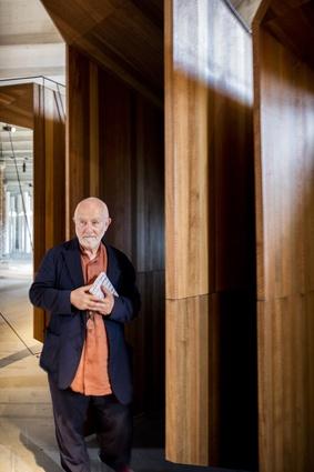 Architect Peter Zumthor with <i>Somewhere Other</i> by John Wardle Architects.