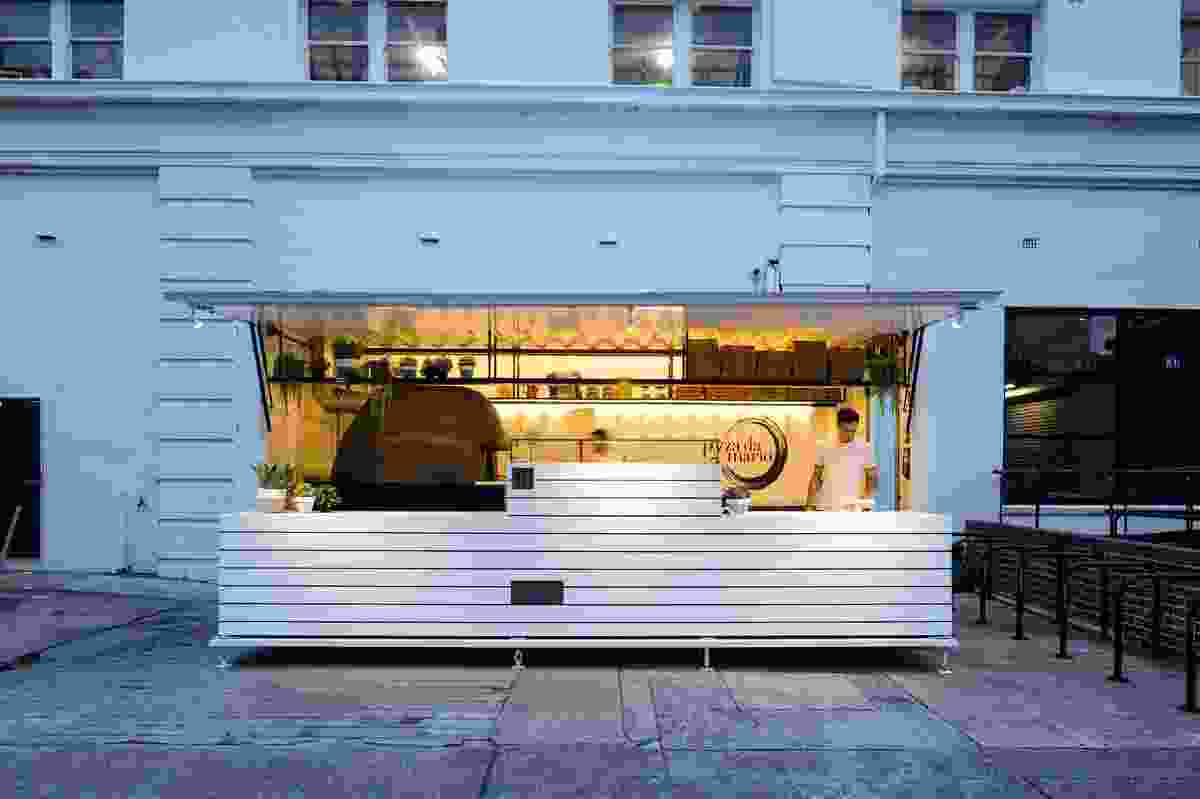 Pizza Da Mario - Mobile Pop up by Victoria Hampshire Design, shortlisted for Best Installation Design.
