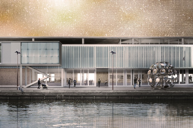 Anonymous finalist GH-1128435973. At the dock level, the museum will act as a community centre, incubator for innovation and social commons for the city.