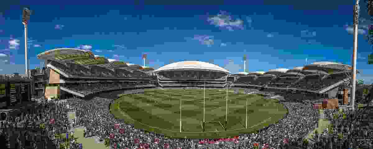 Adelaide Oval Redevelopment by Cox Architecture, Walter Brooke and Hames Sharley.