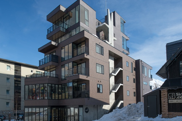 Muse apartments (2015) in Niseko is one of several projects by RTA in the high-end ski resort.