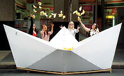"""Boat"", an installation by the Hassell Young Designers Group for Park(ing) Day in Brisbane."