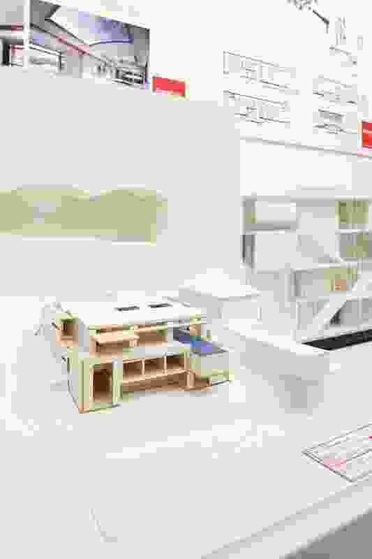 A model of Northbridge House by Popov Bass Architects.