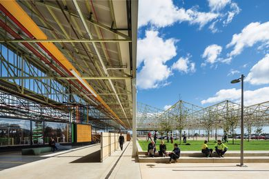 The Flinders University Commons is situated just north of the Main Assembly Building (MAB), which is now an open-air community space.
