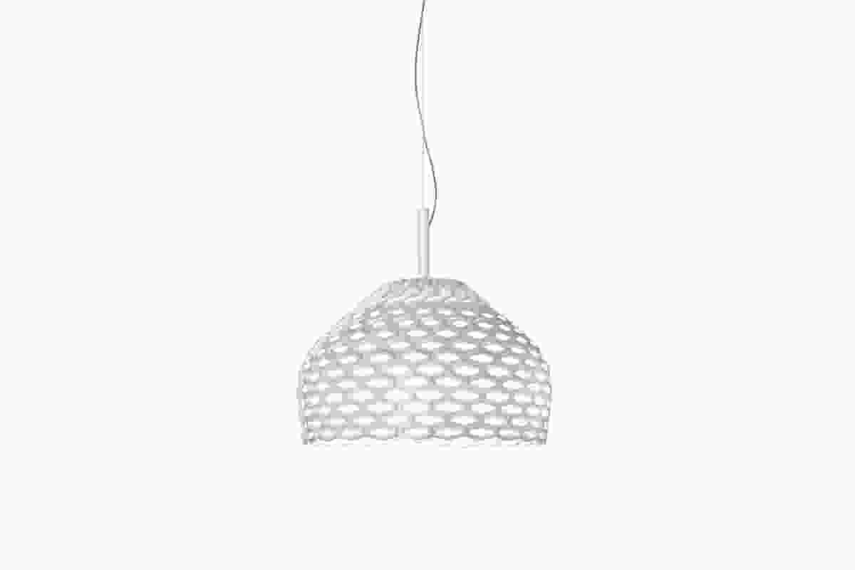 Tatou pendant lamp by Patricia Urquiola in white.