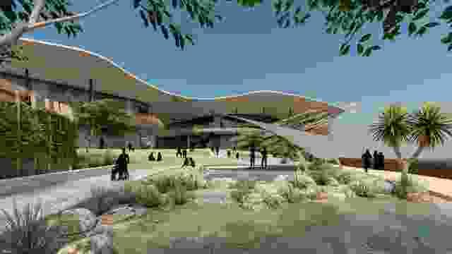 Larrakia文化中心由Rossi Architects, Susan Dugdale and Associates和Larrakia工作组设计。