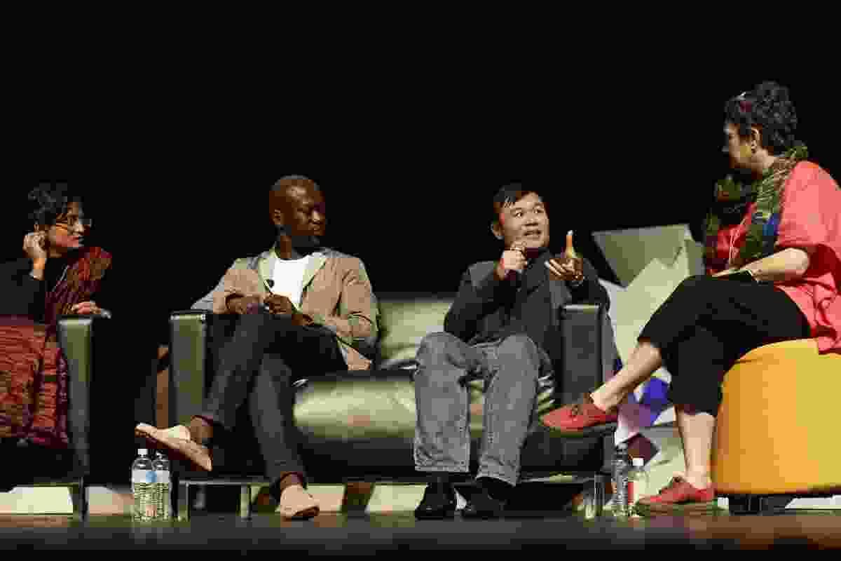 L–R: Marina Tabassum, David Adjaye, Vo Trong Nghia and Helen Norrie.