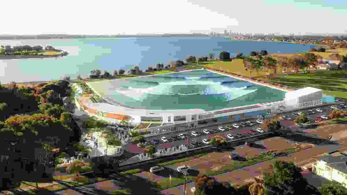 Proposal for Urbnsurf Perth by MJA Studio and Wave Park Group.