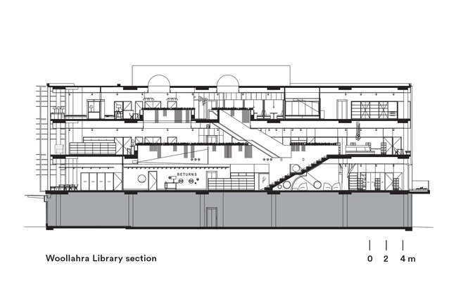 Section Of Woollahra Library By BVN