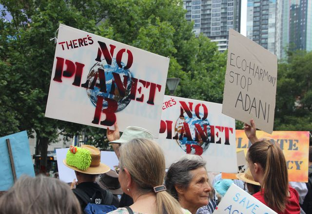 A previous climate march in Melbourne.