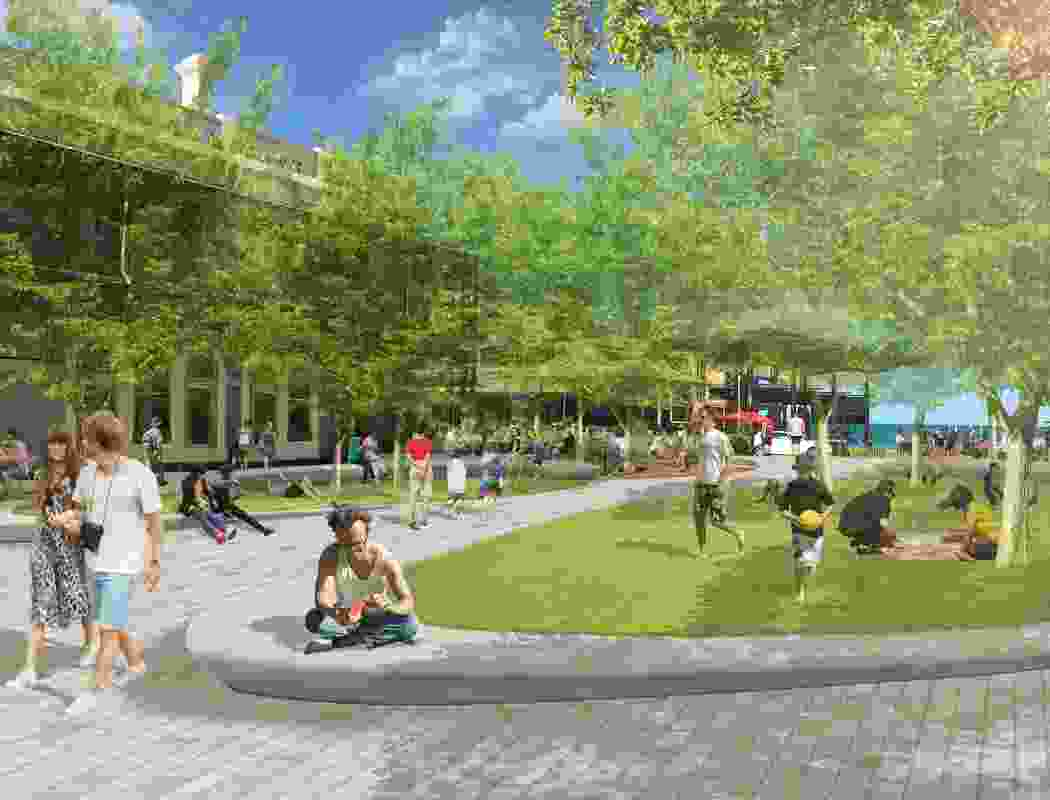 Military Road and Main Street Precinct by JPE Design Studio won a Landscape Architecture Award in the Urban Design category.