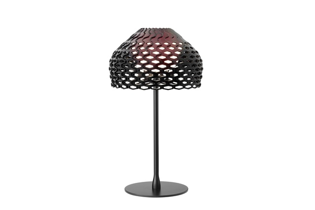 Tatou table lamp by Patricia Urquiola in black.