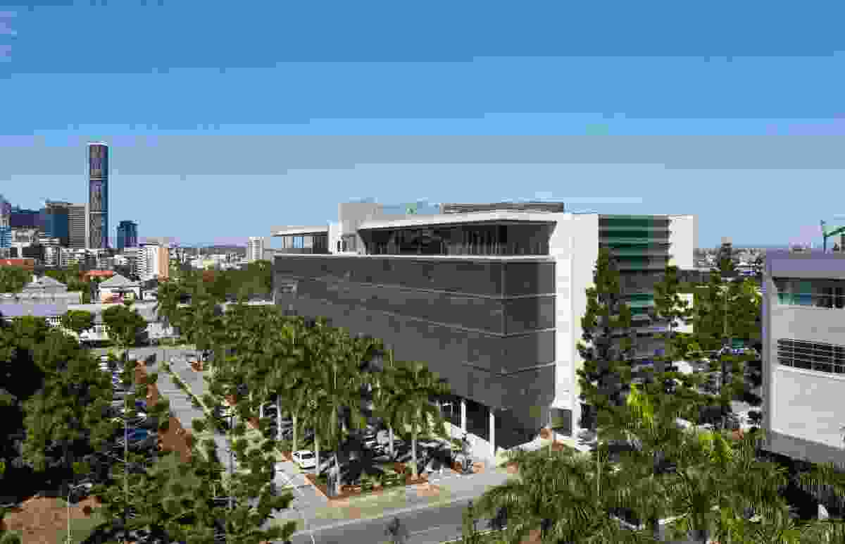 Stage two of the Queensland University of Technology's Creative Industries Precinct at Kelvin Grove campus, designed by Richard Kirk Architect and Hassell in a joint venture.