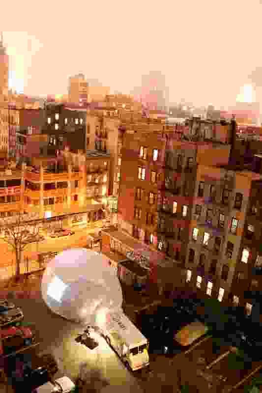 Raumlabor's Spacebuster, New York City, 2009.