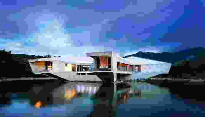 Stamp House (2013): A sustainable dwelling in its own private lake/wetland.