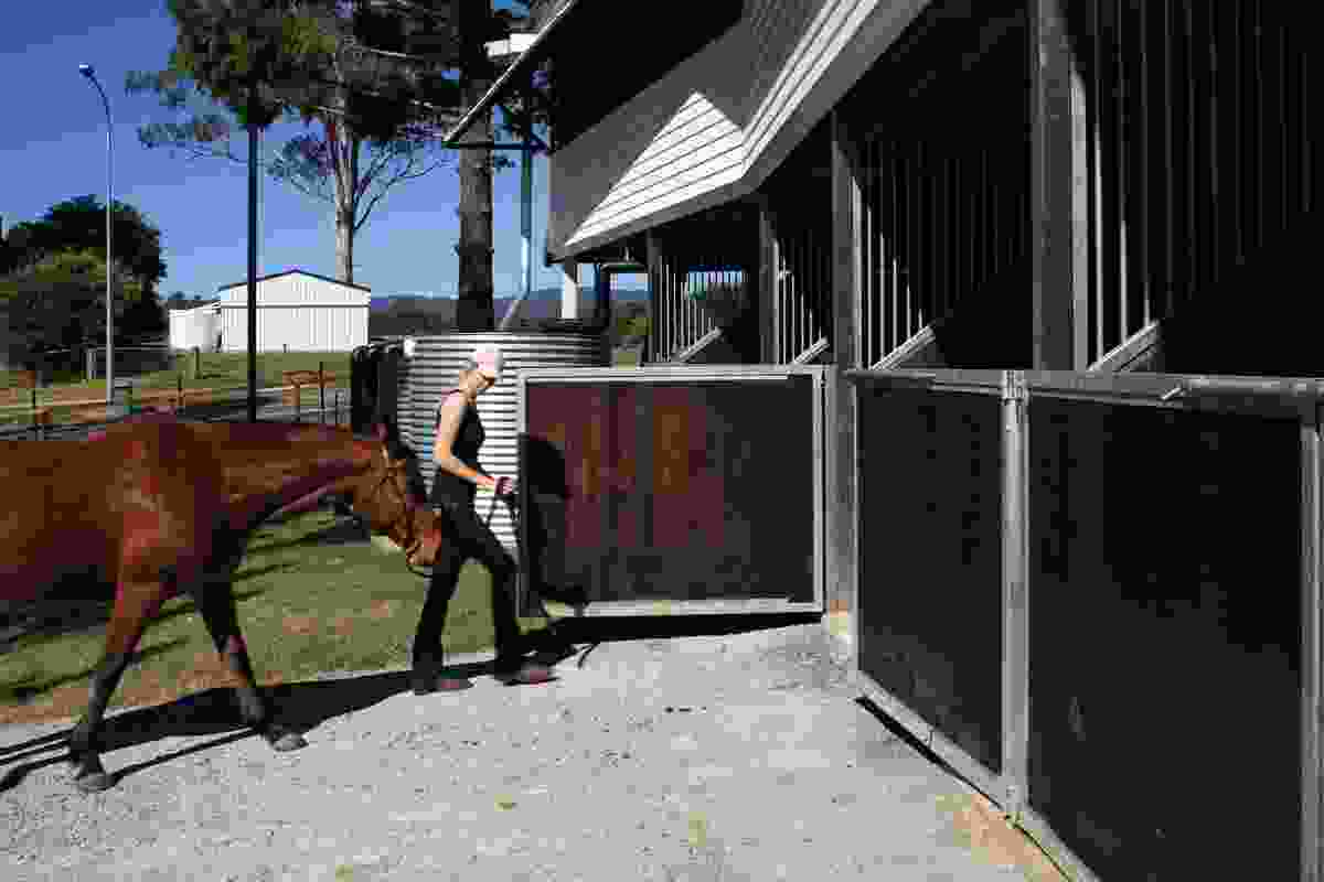 Stables on the lower level have easy access to the paddock.
