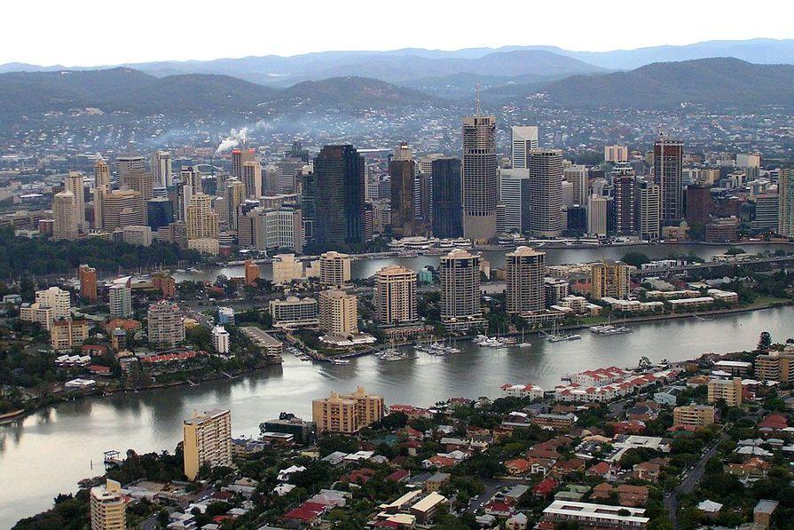 Brisbane's CBD.