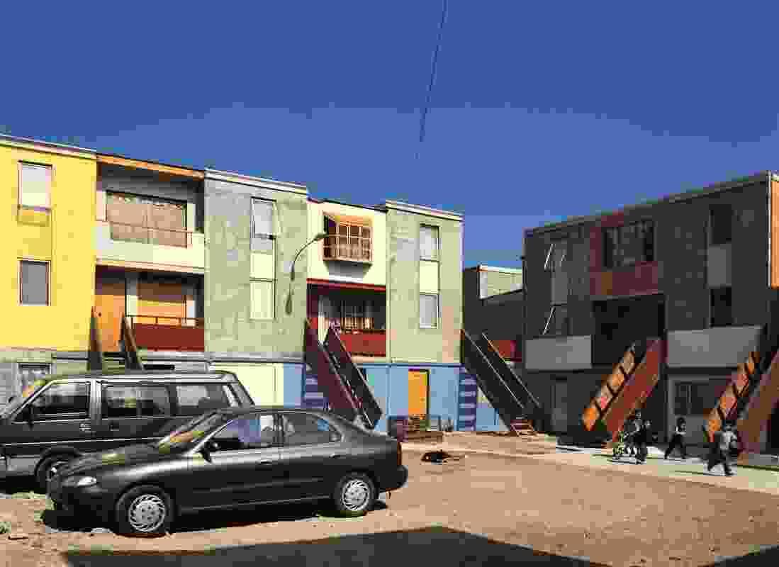 Quinta Monroy Housing, 2004, Iquique, Chile by Elemental.