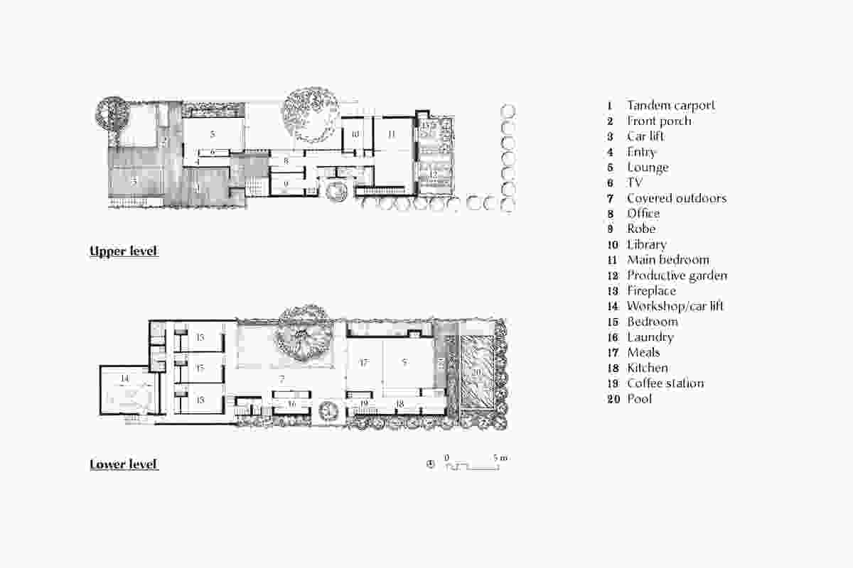 Plans of Christian Street House by James Russell Architect.