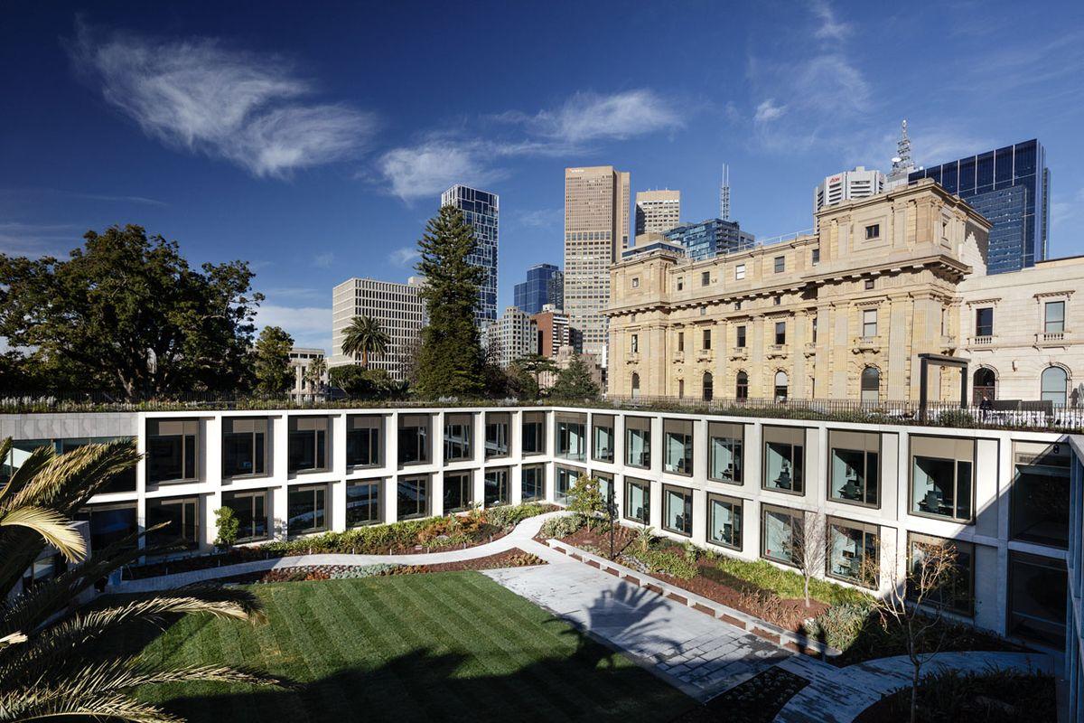 New Victorian Parliament Offices Embraced By Landscape | ArchitectureAU