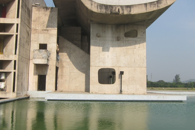 Capitol Complex, Chandigarh, India designed by Le Corbusier.