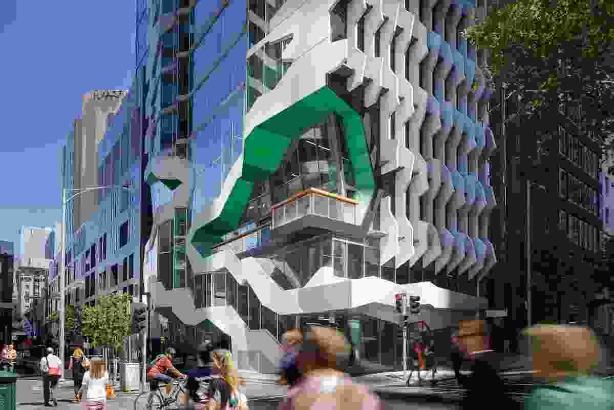 "41X by Lyons: ""A major stair, visible from Flinders Lane, facilitates public engagement."""