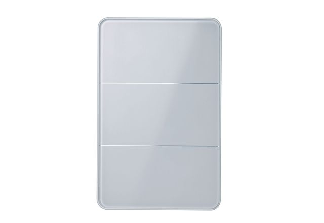 Antumbra light control panel by Philips Dynalite in white glass.