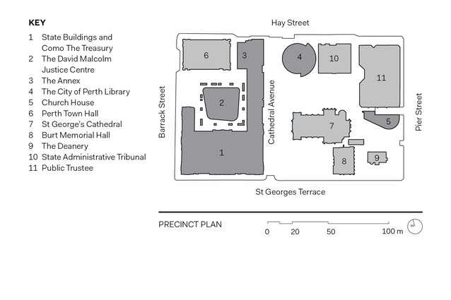 Cathedral Square site plan.