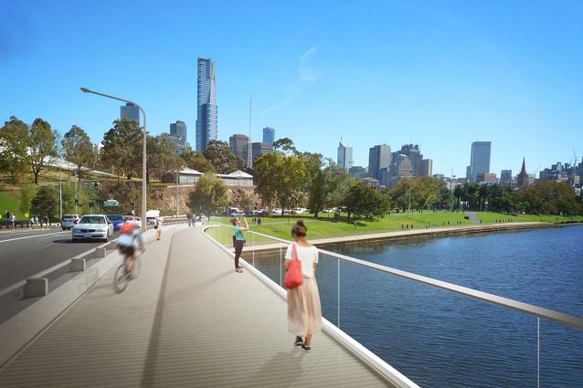 Design for Swan Street Bridge upgrade by Watson Architecture & Design.