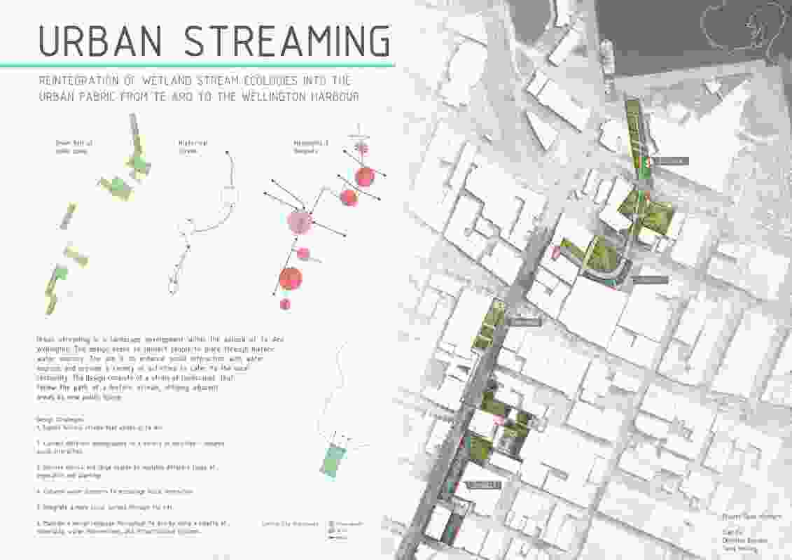 Urban Streaming by Sian Du, Christine Blunden Tama Whiting, Victoria University of Wellington.