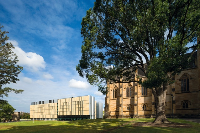 With its warm sandstone facade, the centre contrasts with the adjoining gothic pile of St John's College.