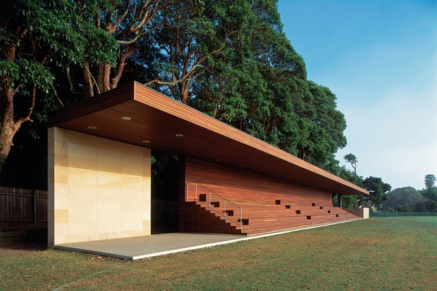 Carving: Justin McDonald Stand, Bellevue Hill, NSW (2004) – 2007 RAIA NSW Public Buildings, Commendation.