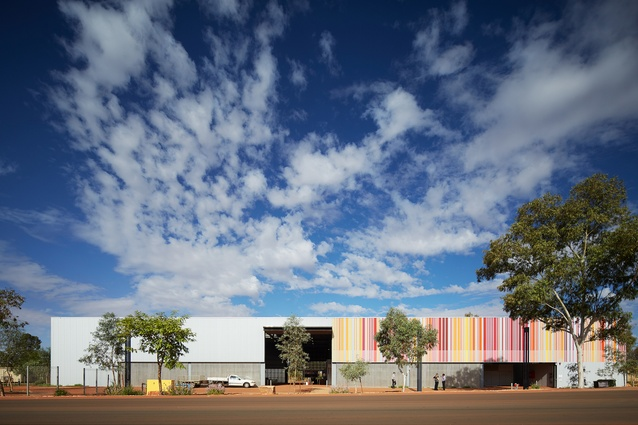 The recently opened gallery for Indigenous art collective Martumili Artists, East Pilbara Arts Centre, was conceived through an architectural competition.