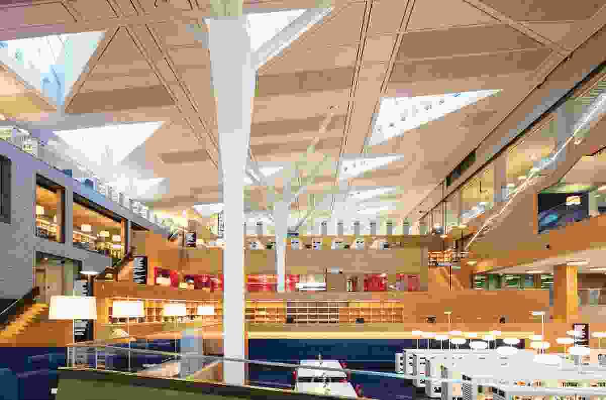 The library's legible geometric built objects and voids will be framed as the Green Square precinct evolves.