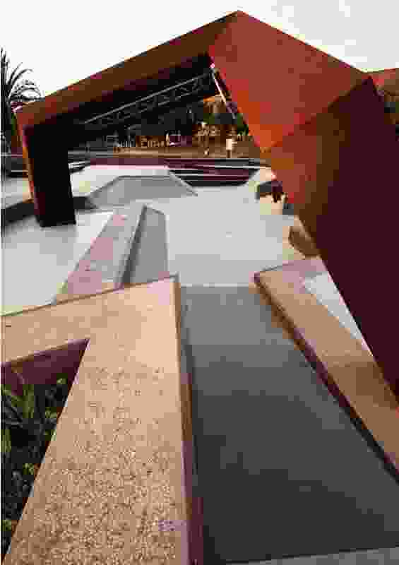 The park's sharp angles and smooth surfaces illustrate that skateboarders are still top of mind.