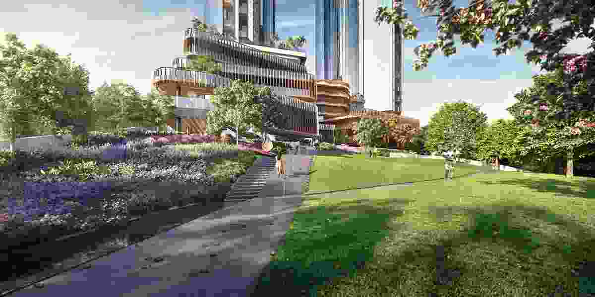 Melbourne Square public park by Taylor Cullity Lethlean.