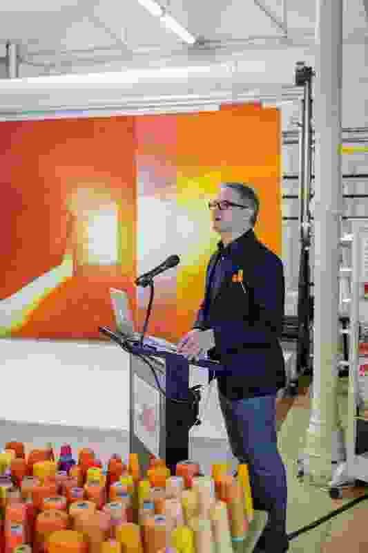 John Wardle speaks about the tapestry design and interpretation process as part of JWA and Spacecraft's 'On Top of the World' lecture series.