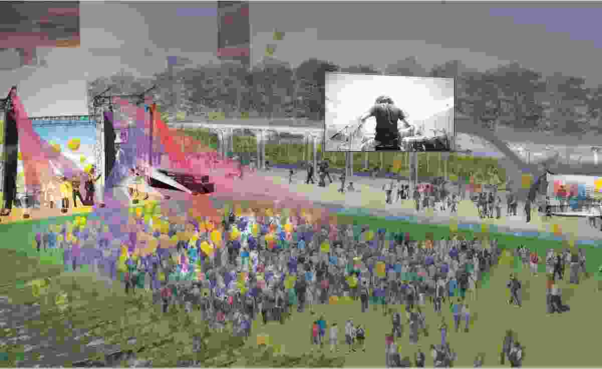 The proposed performance space can work for Adelaide's many events and festivals.
