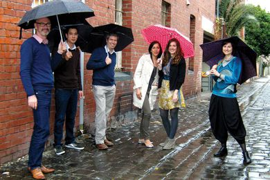 Artillery Melbourne (left to right) Michael Edwards, Nick Leong, Ian Piggott, Carla Franzo, Gracie Coury, Sonja Duric.
