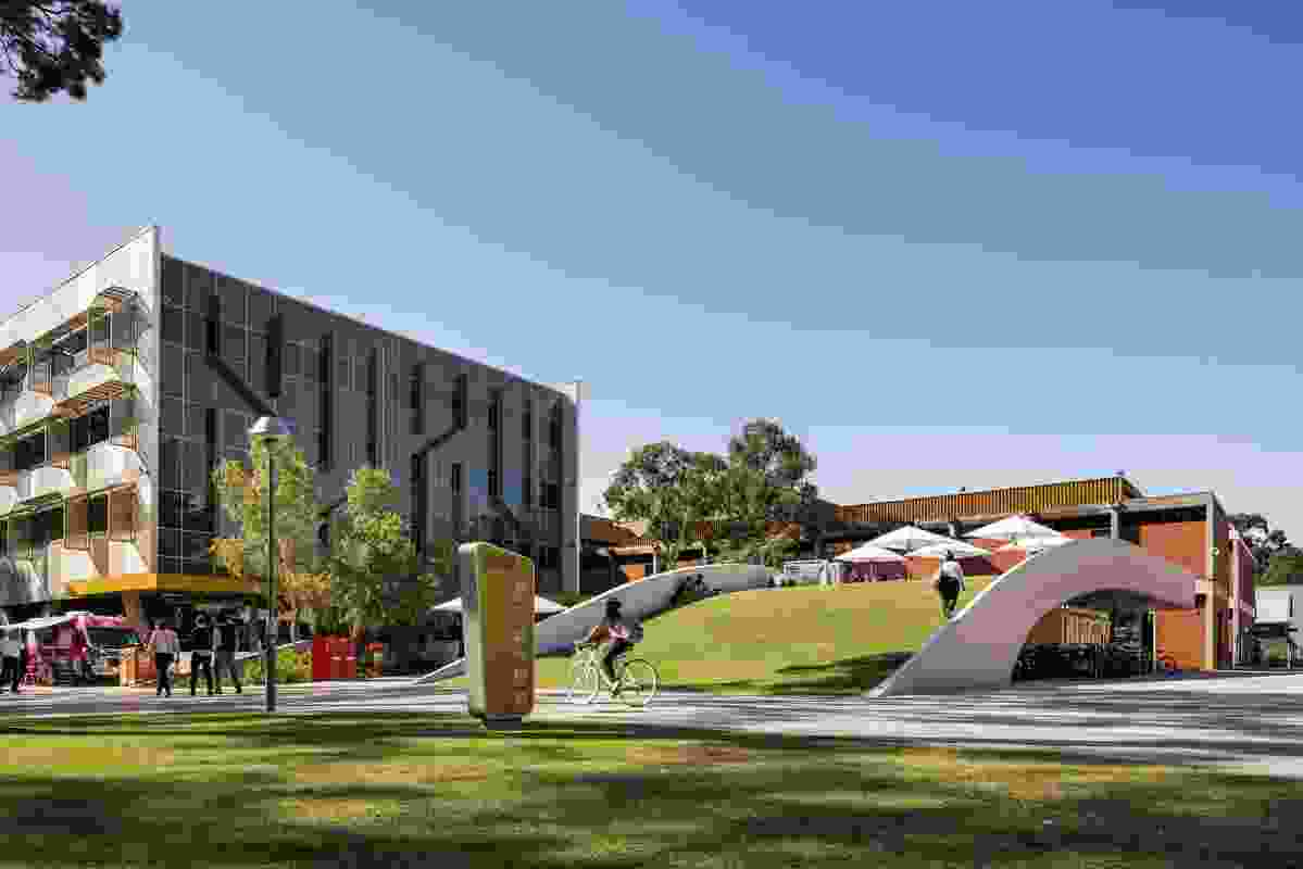 Curtin University Creative Quarter and Cycle Hub by Place Laboratory (project lead and landscape architecture), Coniglio Ainsworth Architects (architect), Curtin University (client)