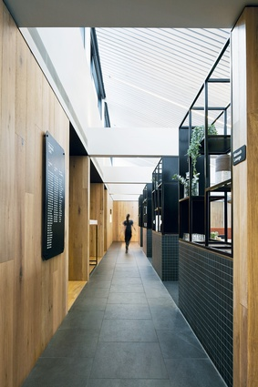 Monash University Academics' Club & Café (Church of Secular Coffee) (St Ali) by Jackson Clements Burrows Architects.