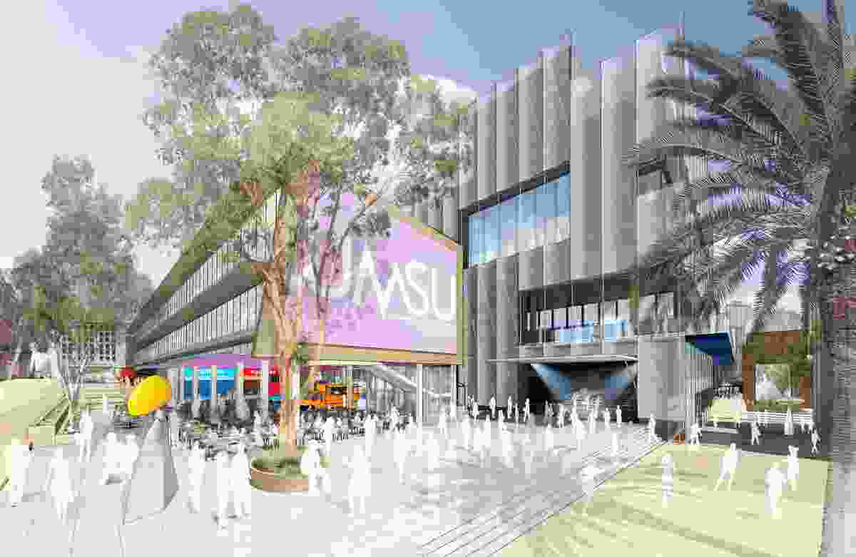 The proposed New Student Precinct at the University of Melbourne to be designed by a Lyons Architecture-led team.