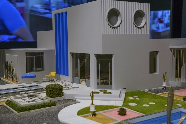 A model of Villa Arpel designed by Jaques Lagrange for the cult film <i>Mon Oncle</i> in the French exhibtion