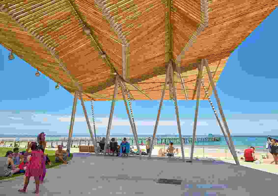 4 Structures at Henley Square by Troppo Architects and Taylor Cullity Lethlean.