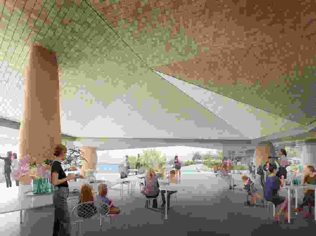 Proposal for the redevelopment of the Indiana Tea House site by Neeson Murcutt and Neille with Simon Pendal Architect and Sue Barnsley Design.